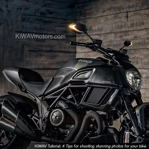 KiWAV tutorial: Get your motorcycle a LED mirror on will create the WOW factor inside garage, too.