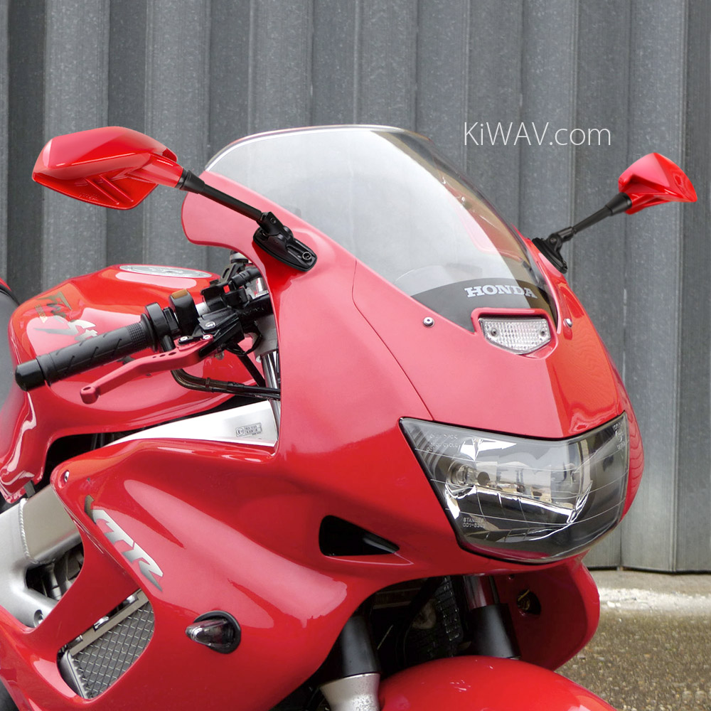 motorcycle mirrors Fin on Honda VTR1000 firestorm