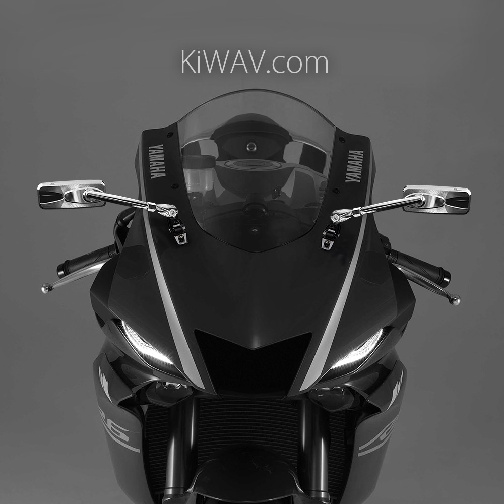 motorcycle mirrors Modern on Yamaha YZF R6