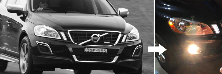 KiWAV NS-15 fog light on the 2012 Volvo XC60