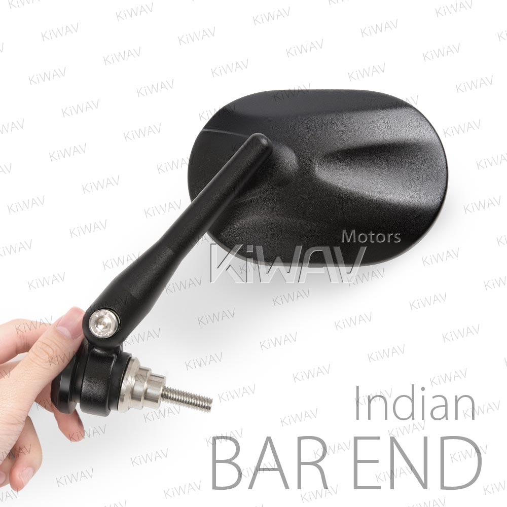 Stark black bar end mirrors for Indian Scout Bobber