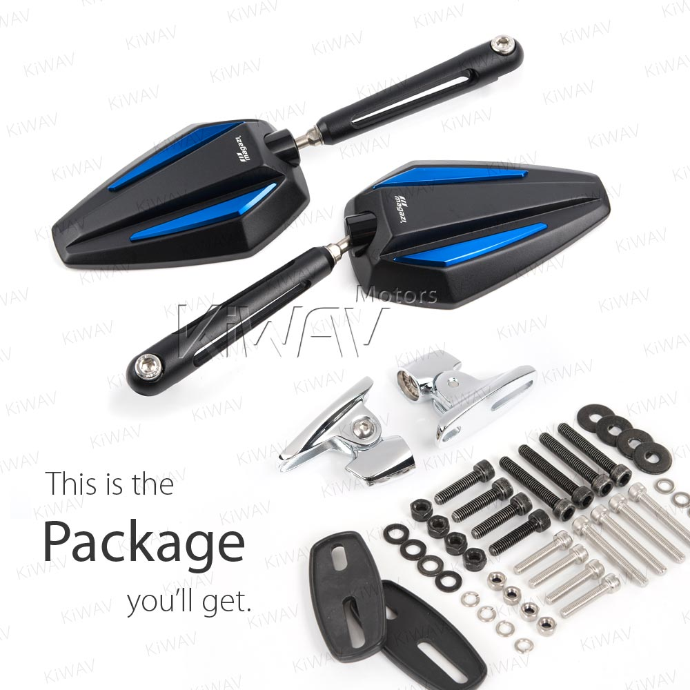 Achilles blue w/ new ver  chrome adapter for Ducati Panigale