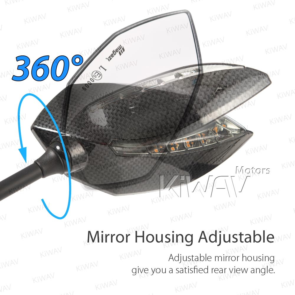 Parts Led Mirrors Lucifer With Sequential Effect Carbon For Ducati Superbike Wiring Diagram Panigale