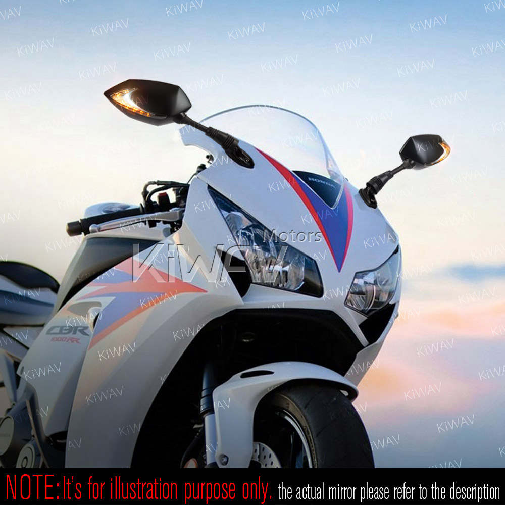 Lucifer black LED mirrors with Oi flash controller for sportsbike