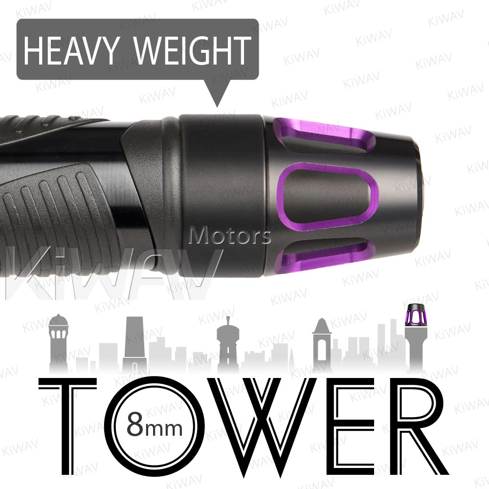 heavy weights bar ends Tower purple w/ black base