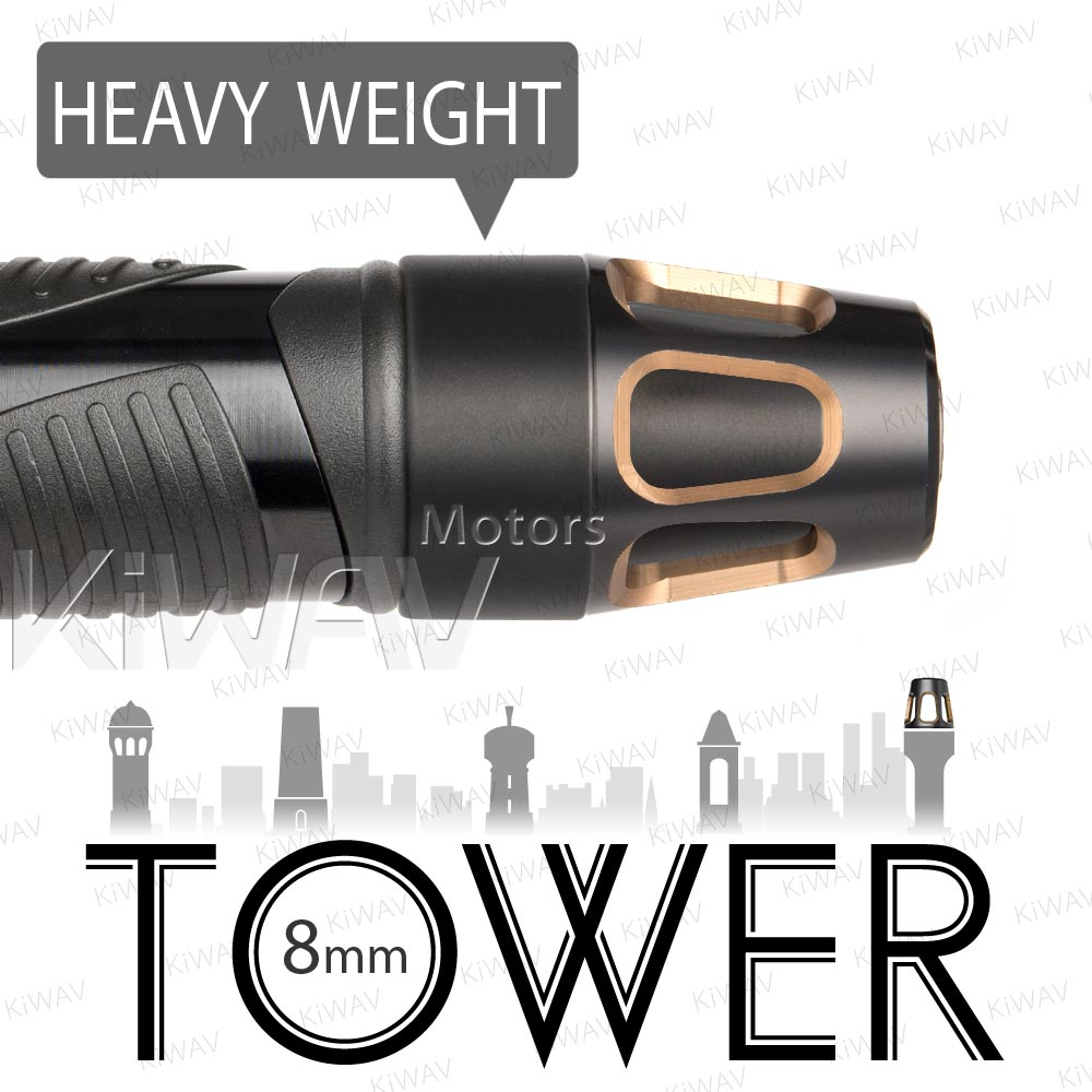heavy weights bar ends Tower Tgold w/ black base
