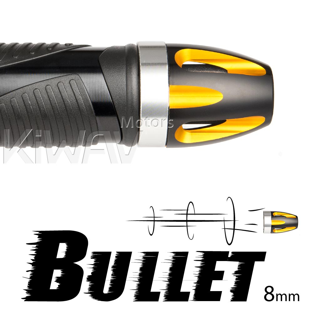 bar ends Bullet gold with silver base