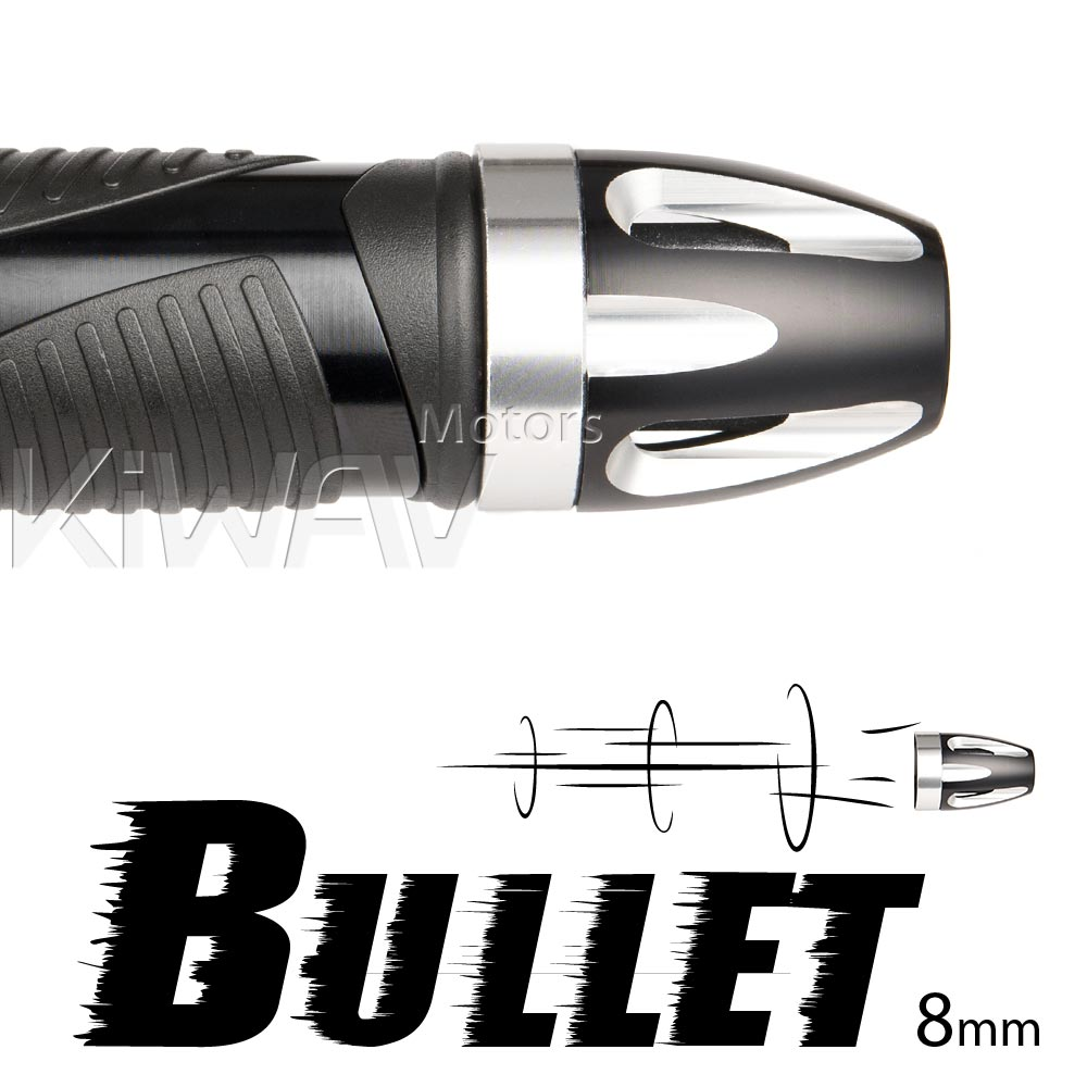 bar ends Bullet silver with silver base