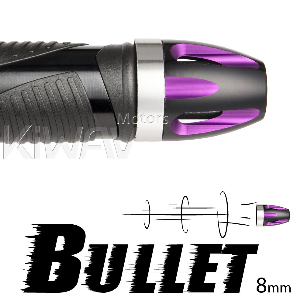 bar ends Bullet purple with silver base