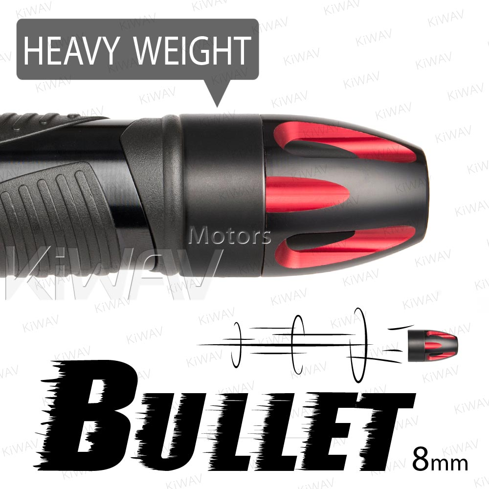 heavy weights bar ends Bullet red w/ black base