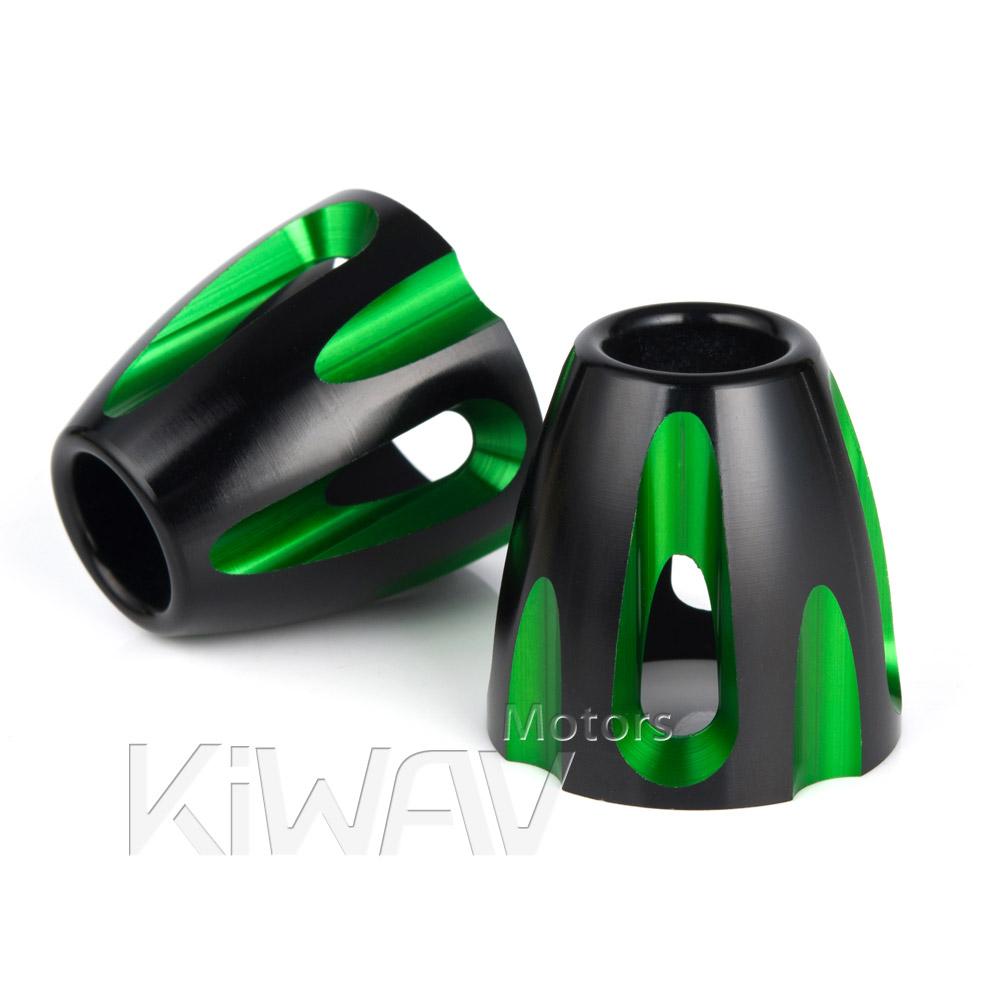 Bullet green heavy weight bar ends w/ black base 8mm