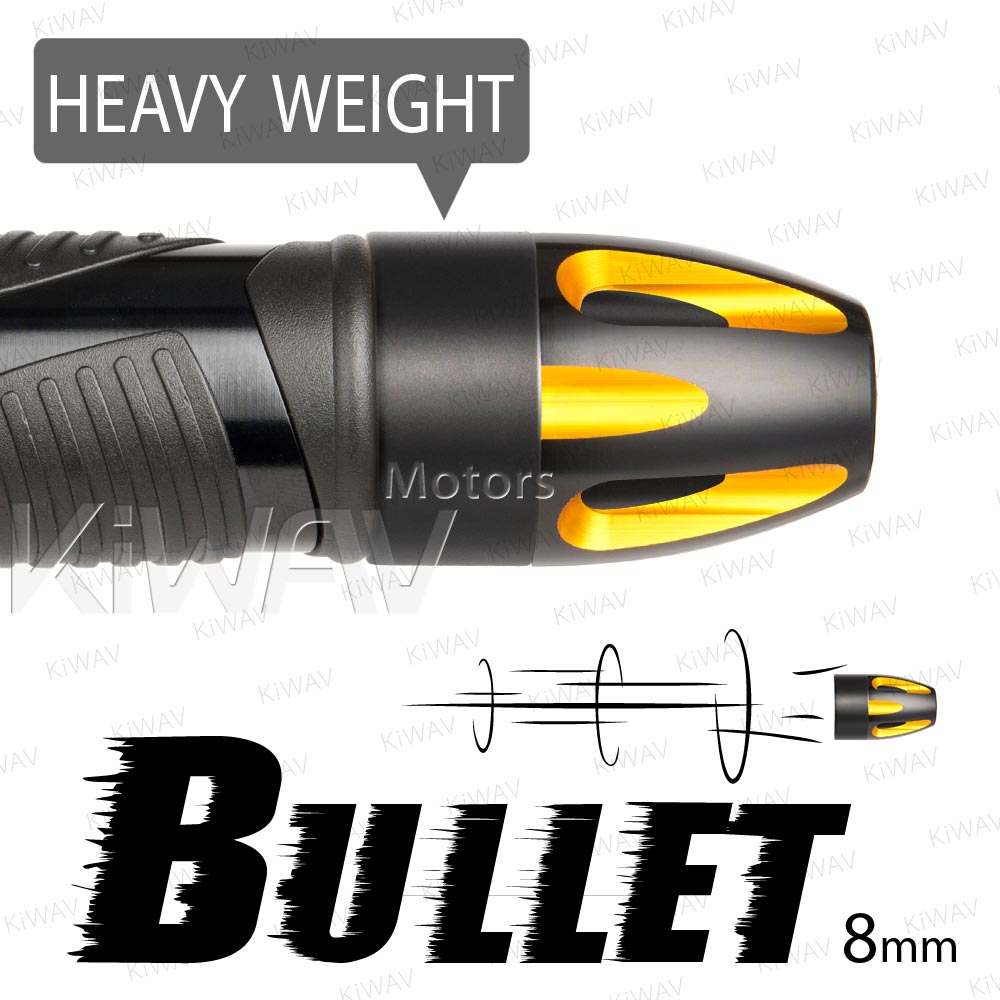 heavy weights bar ends Bullet gold w/ black base