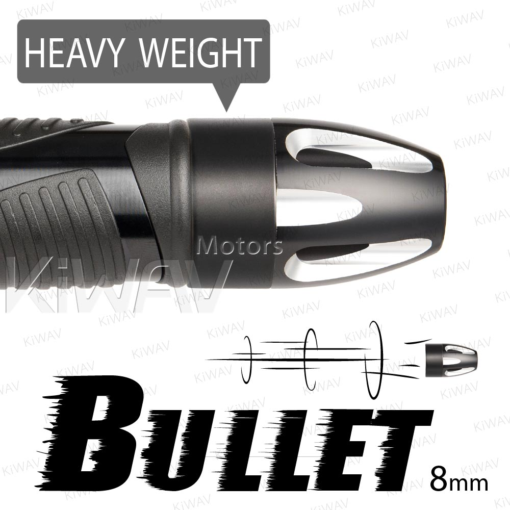 heavy weights bar ends Bullet silver w/ black base