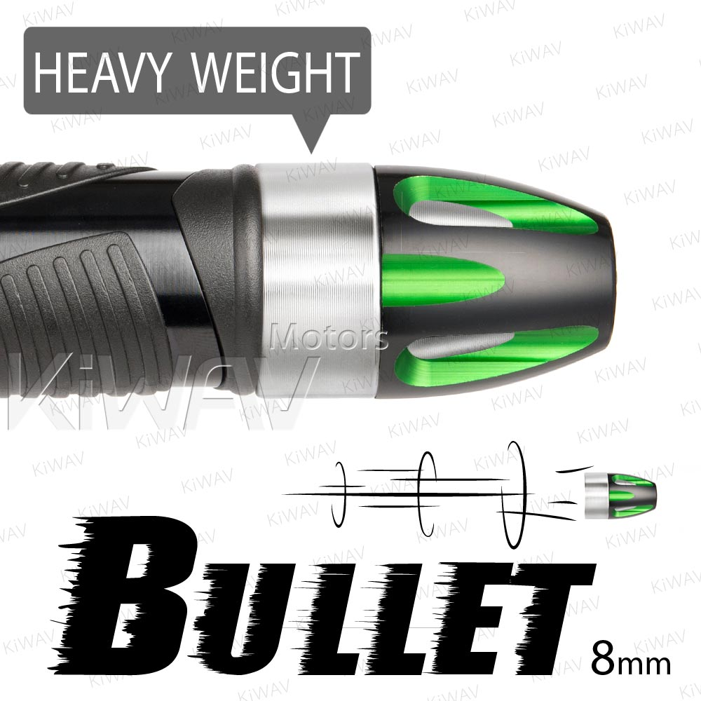 heavy weights bar ends Bullet green w/ silver base