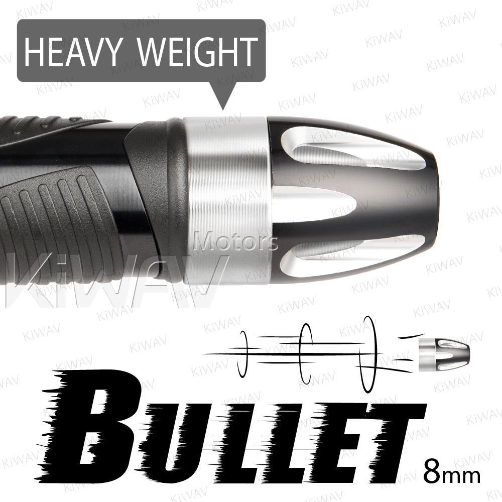 heavy weights bar ends Bullet silver w/ silver base