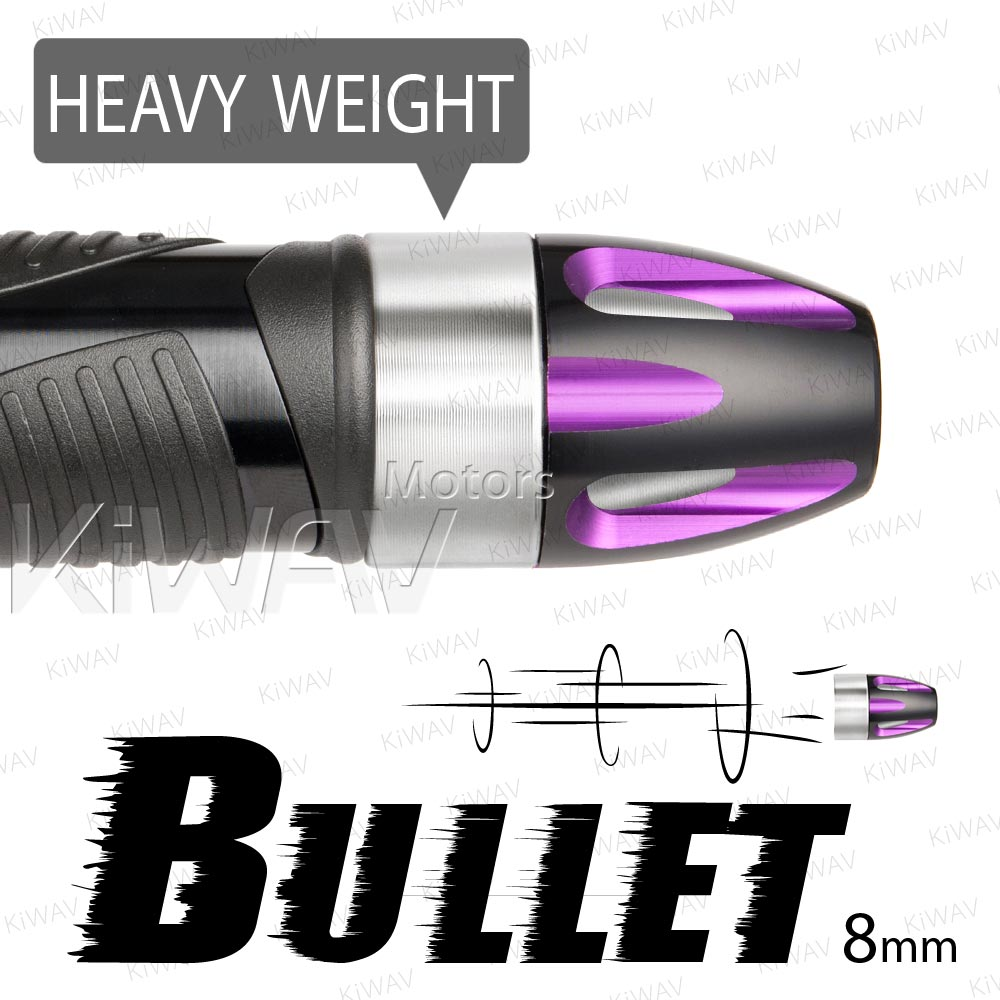 heavy weights bar ends Bullet purple w/ silver base