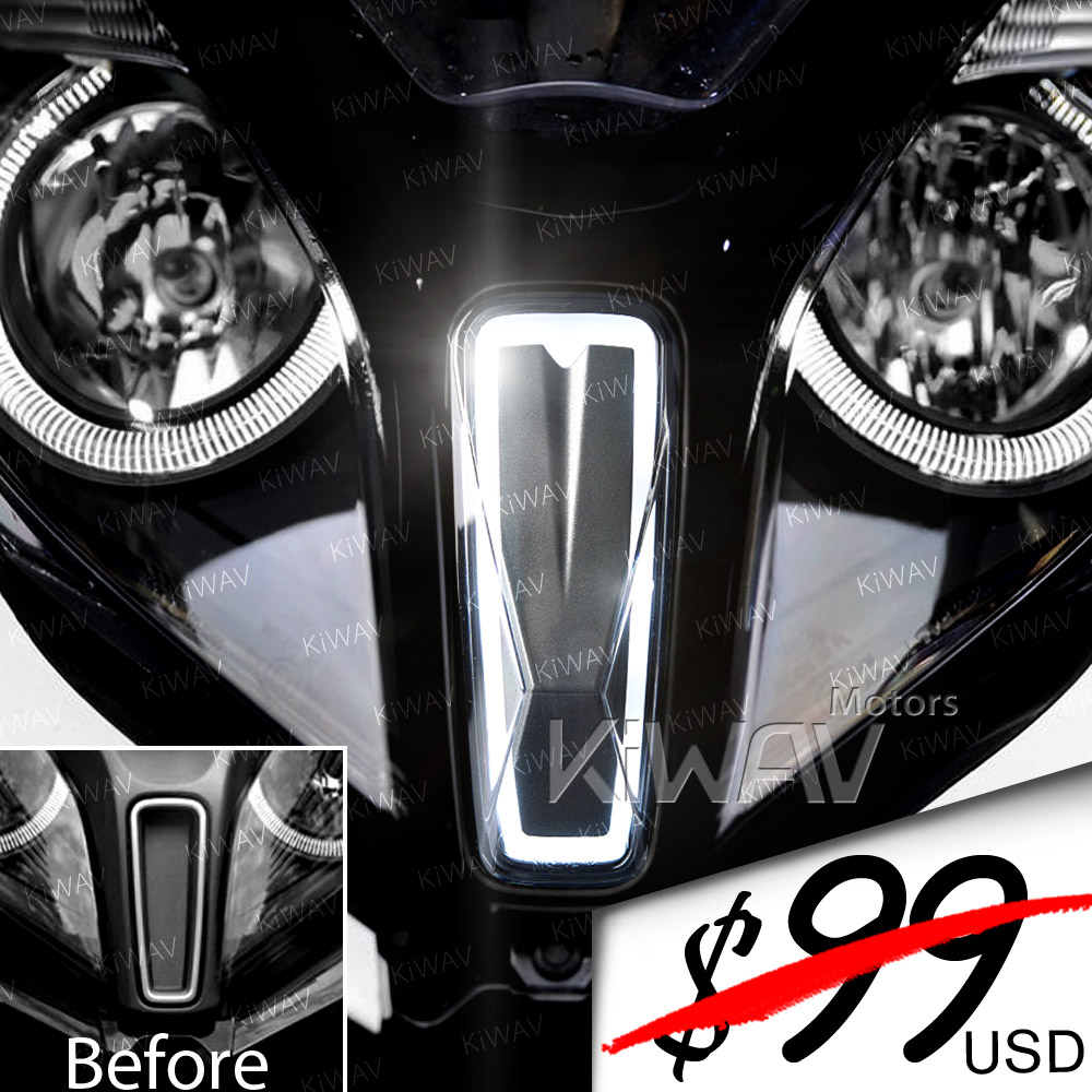 NMW front fender auxiliary LED light gray for Kymco Downtown 350i