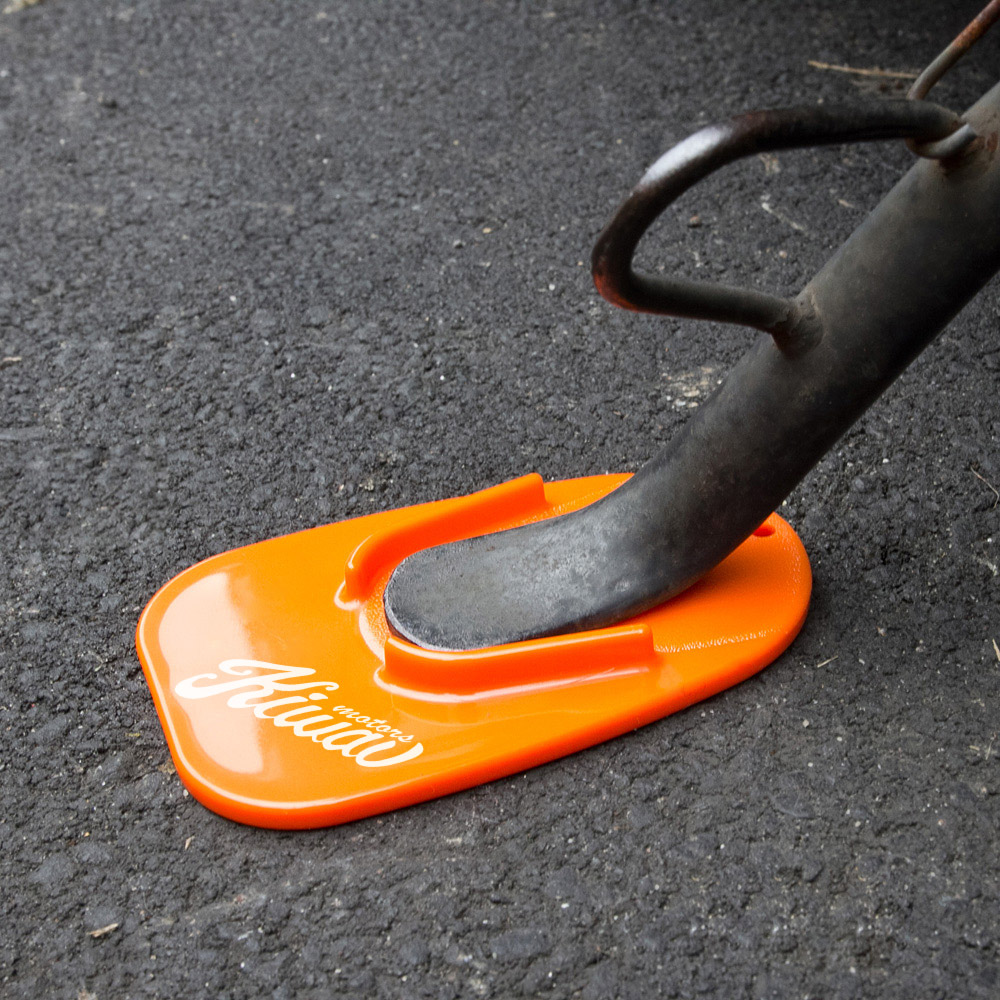 KiWAV Black Kick Stand pad is a great tool for out door parking motorbike on soft & Tools : Kickstand pad orange Pezcame.Com