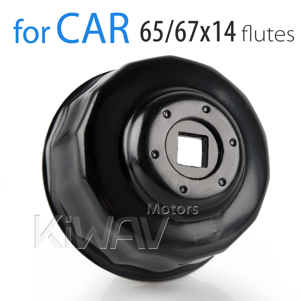 End cap wrenches/ socket tool/spin-on oil filter wrenches/oil filer remove tool Oil Filter cap wrench 65/67mm 14 flutes KiWAV CX-5 MAZDA 6 MAZDA 3 LANCER  (1.3~2.2L) Camry 4CYL Celica  4CYL Corolla Highlander 4CYL Highlander 2GRFE-V6 Matrix RAV4 4CYL Sci