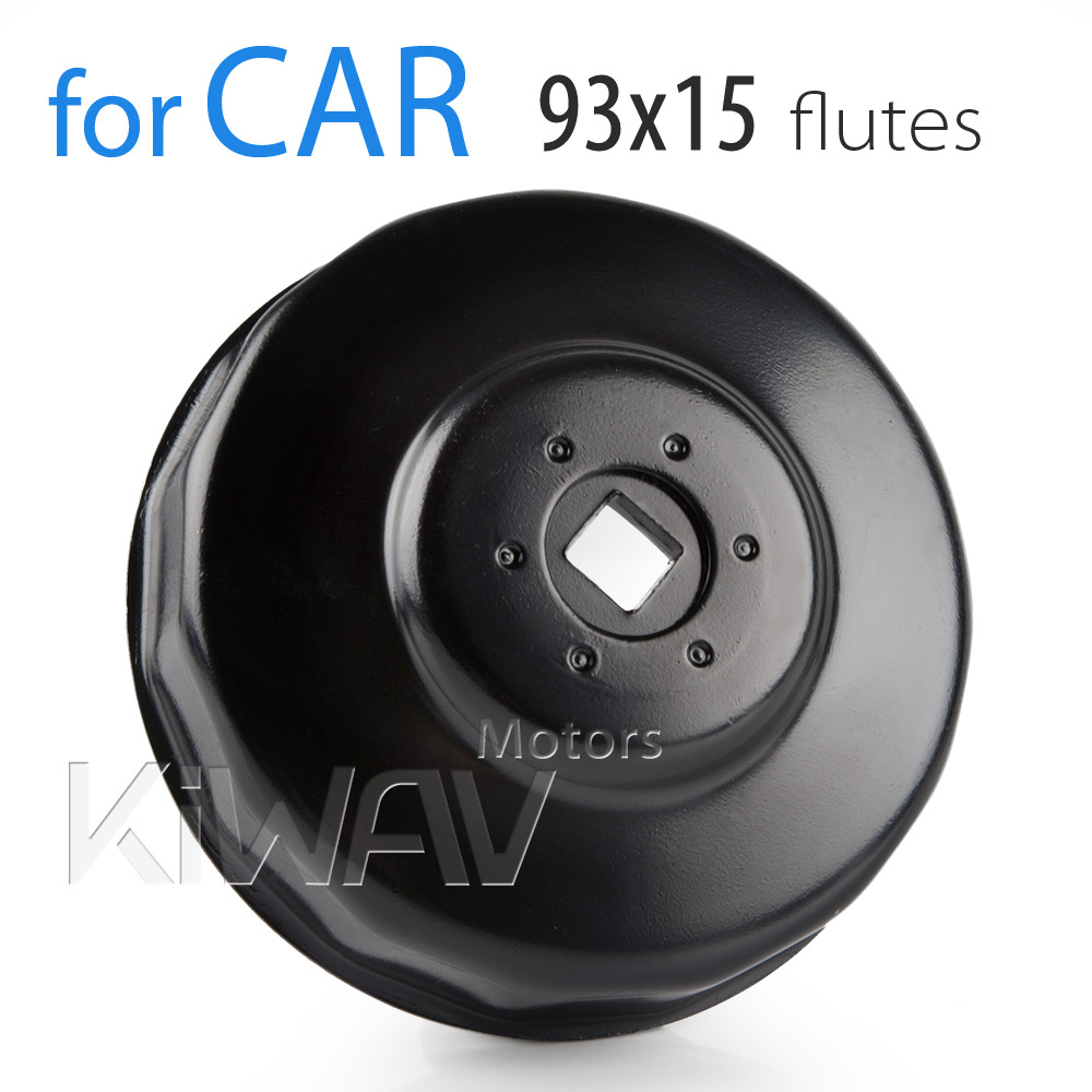 Oil filter cap wrench with 93mm x 15 flutes