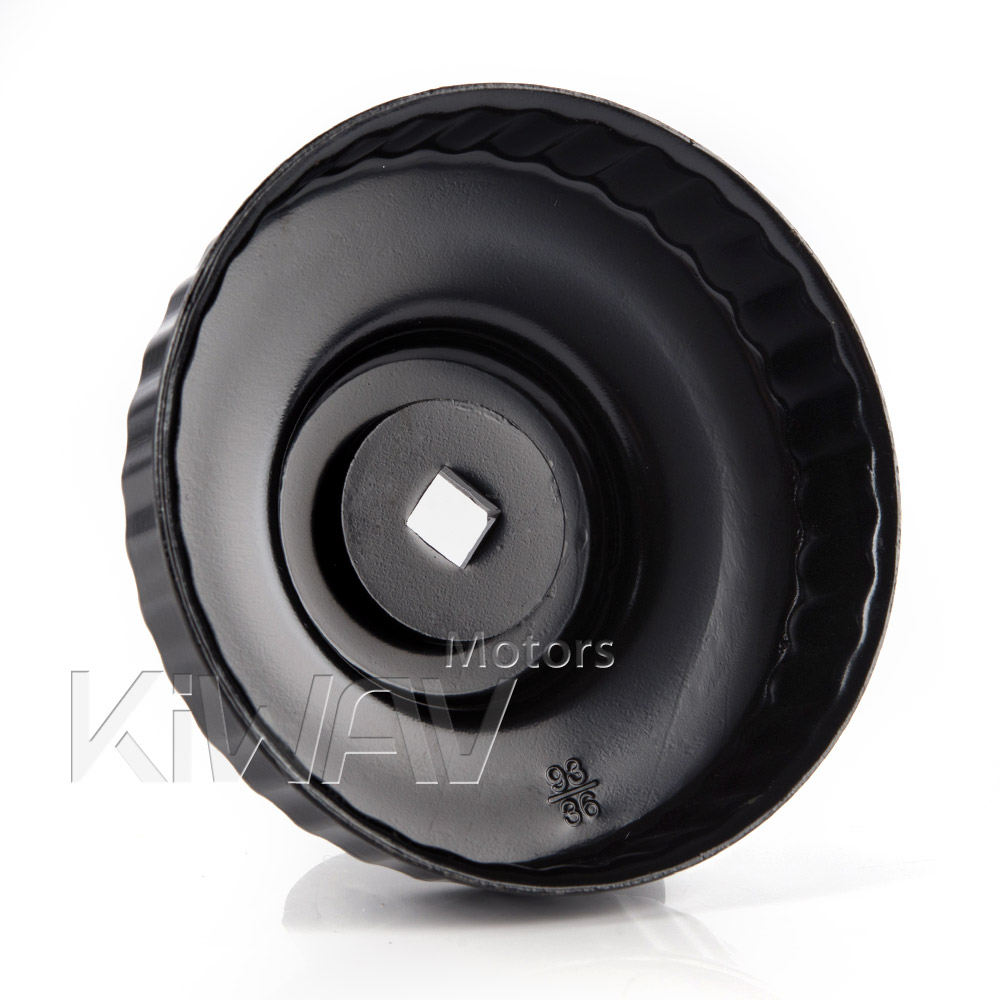 Oil filter cap wrench with 93mm x 36 flutes