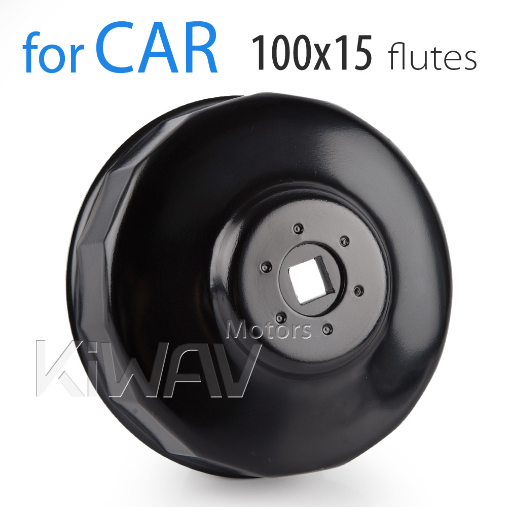 Oil Filter cap wrench 100mm 15 flutes KiWAV End cap wrenches/ socket tool/spin-on oil filter wrenches/oil filer remove tool  Fram , Motorcraft , Wix , Isuzu , Mitsubishi