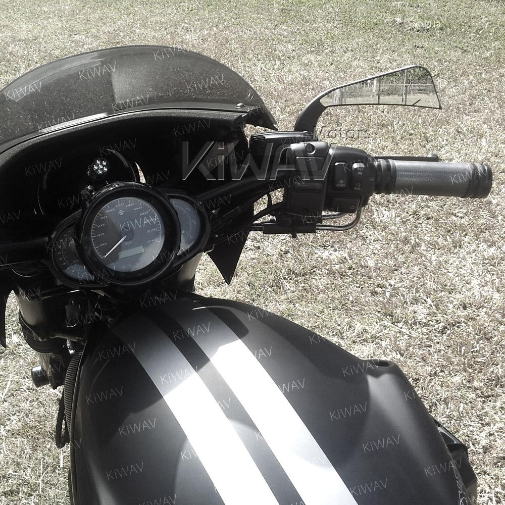 Axe Black LED Mirrors for Harley-Davidson | KiWAV Motors on