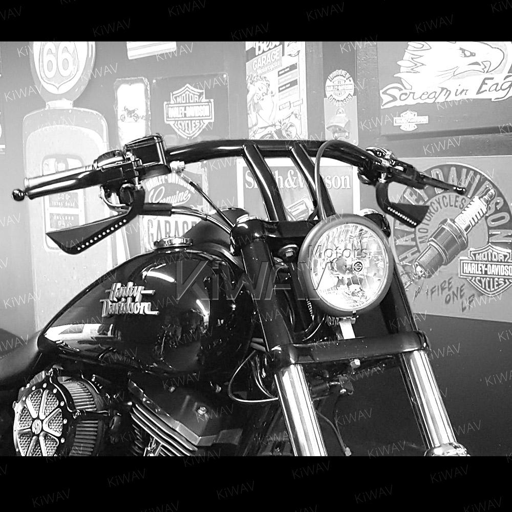 Axe black LED mirrors for Harley-Davidson