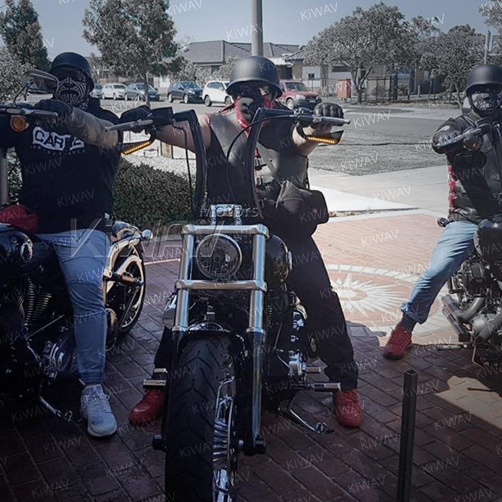 Axe black LED mirrors for Harley-Davidson on