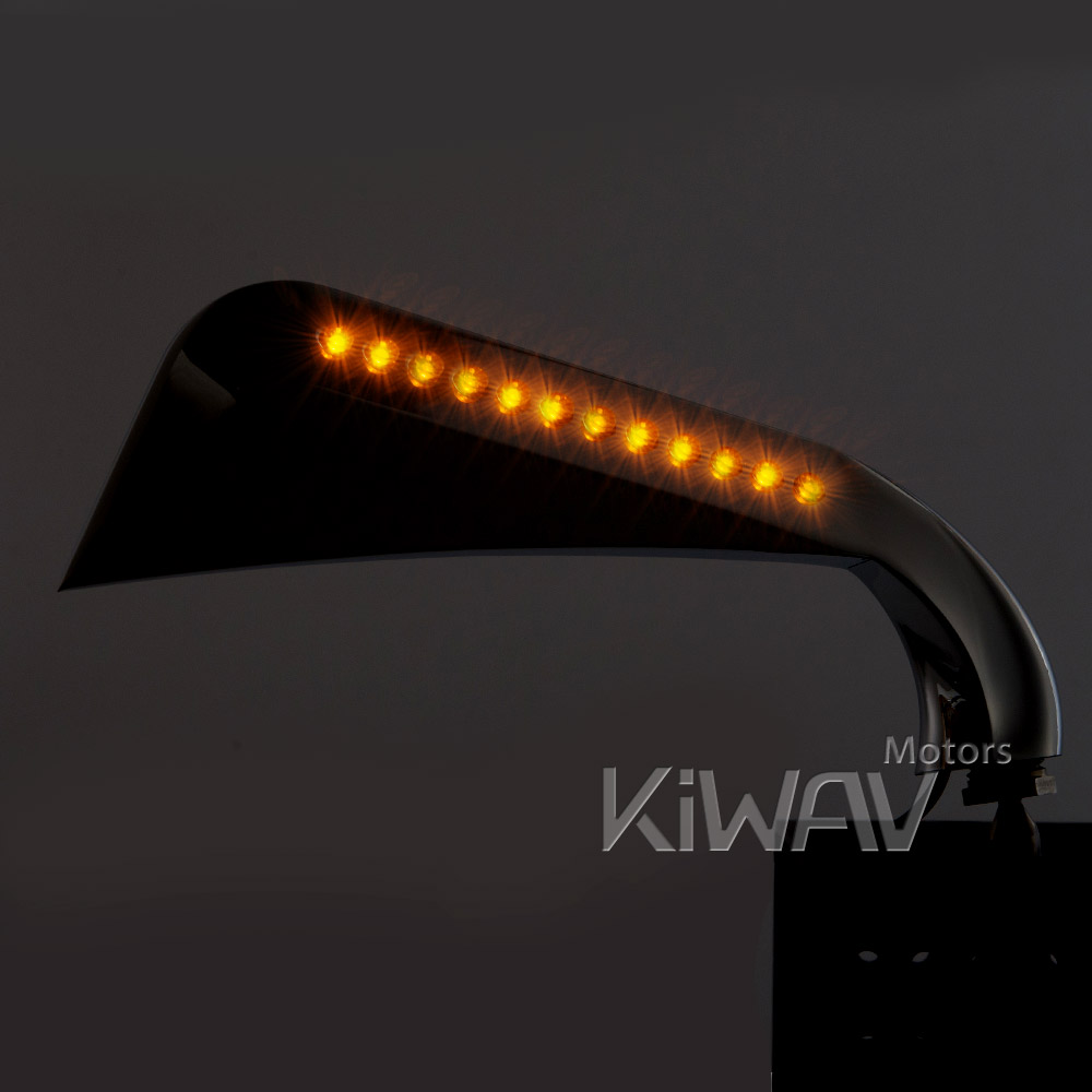 Axe Chrome Led Mirrors For Motorcycles Kiwav Motors List Moulding 10mm Body Interior