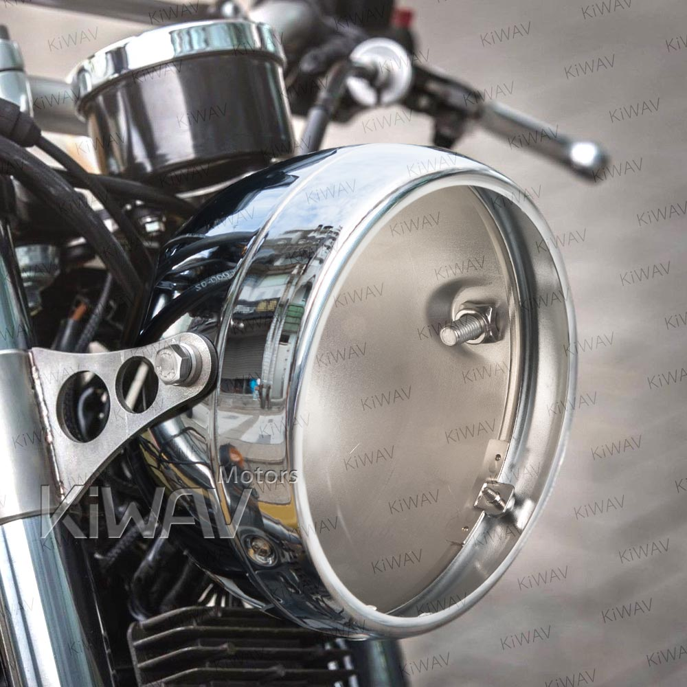 Lights Indicators 5 3 4 Inch Side Mount Headlight Bucket Chrome