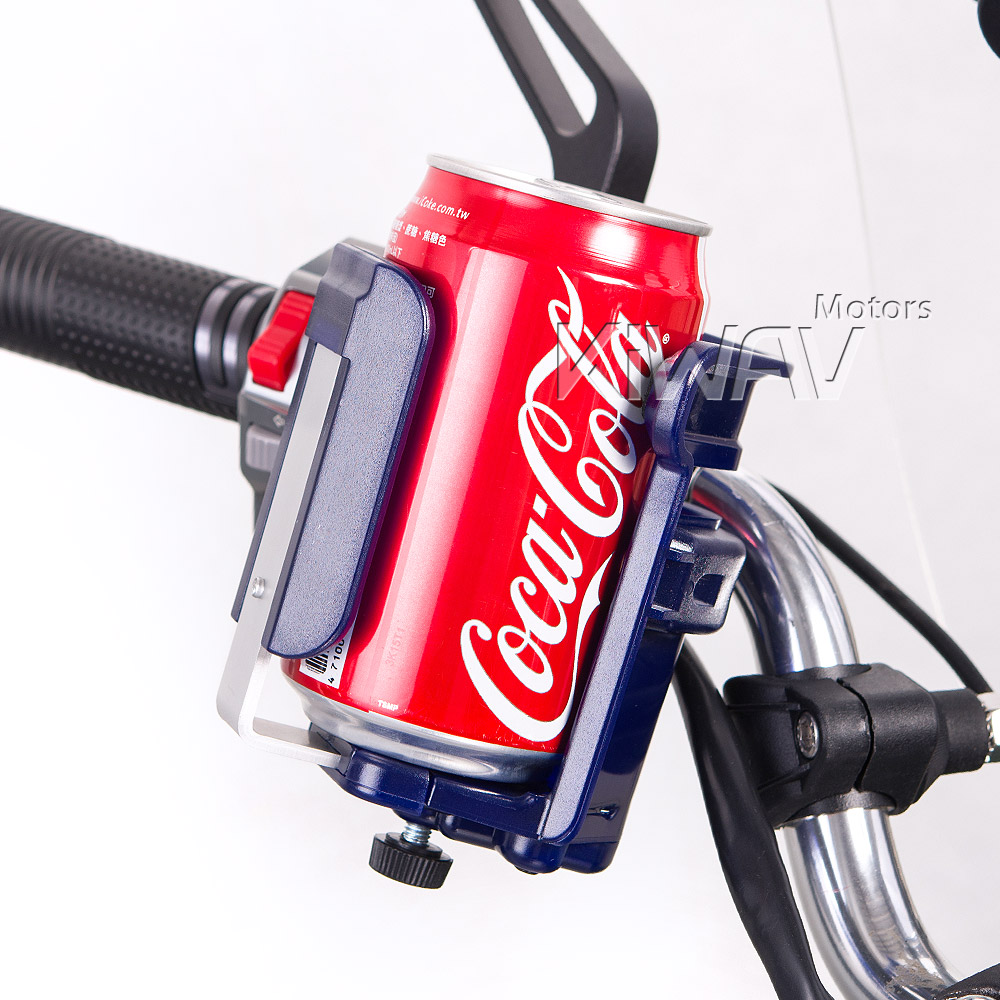 Magazi Motorcycle blue Drink beverage cup Holder for Motorcycle, ATV, Scooter.