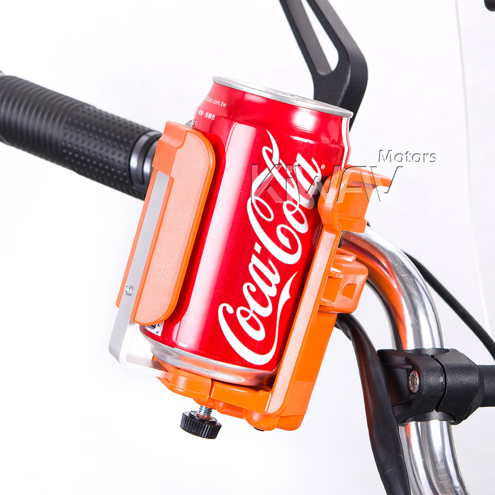 Magazi Motorcycle orange Drink Holder for Motorcycle, ATV, Scooter.