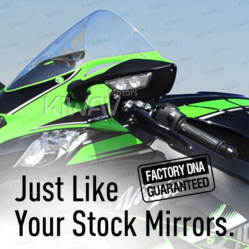 OEM quality replacement mirror FK-988 for Kawasaki Ninja ZX10R left hand