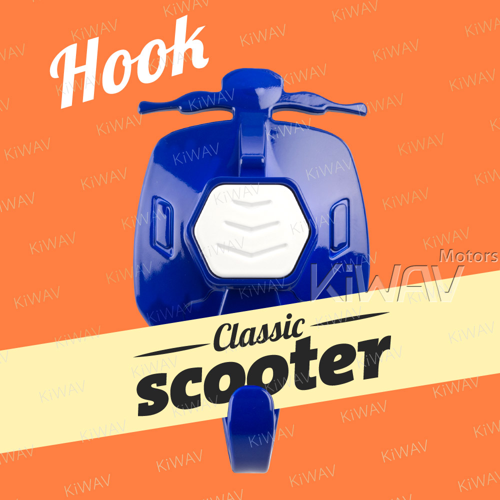 scooter suction cup hook blue with white button