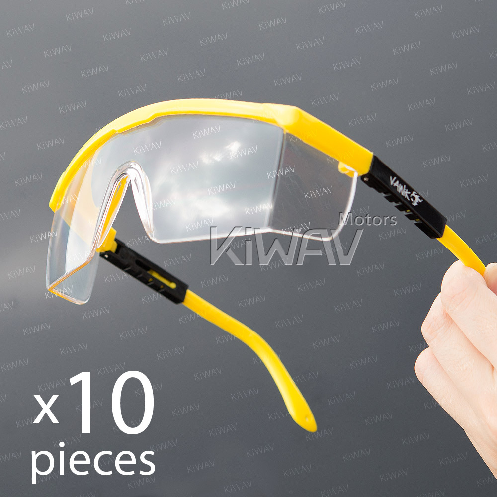 General purpose safety glasses VA200, black & yellow frame, clear lens 10 pcs VAWiK eye protection, Safety glasses, protective eyewear, safety spectacles, safety eyewear ( 10-Pack )(12-pack),outdoor sports eyewear,protective sports eyewear ,for worko