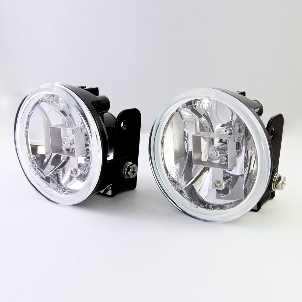 Sirius NS-15F 2.7 inch halogen round fog lights lamps H3 12V 55W metal mounting die-cast aluminum housing pair