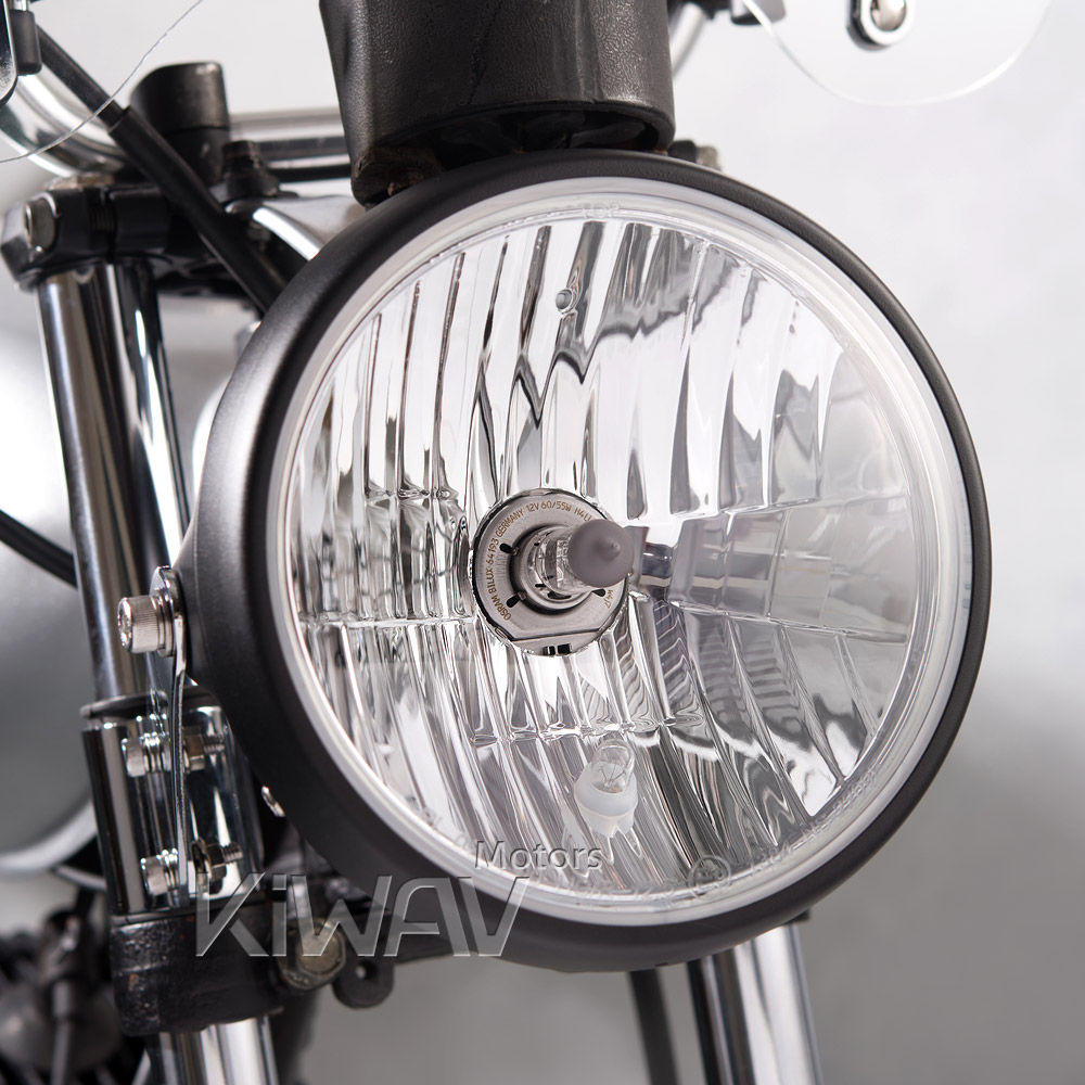 Parts 7 Inch Motorcycle Headlight Ece Black Ns 2209e