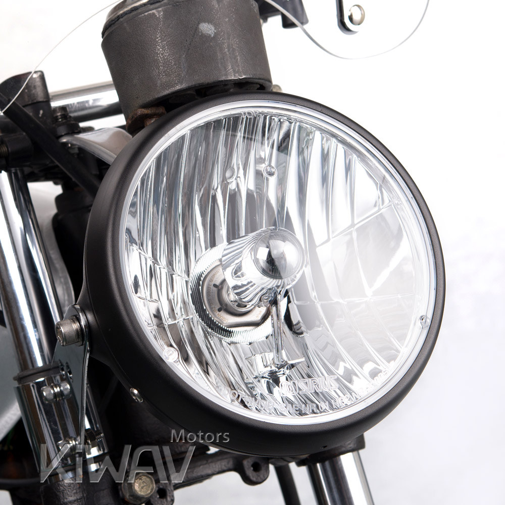 Lights Indicators 7 Inch Motorcycle Headlight Sae Black Ns 2209s