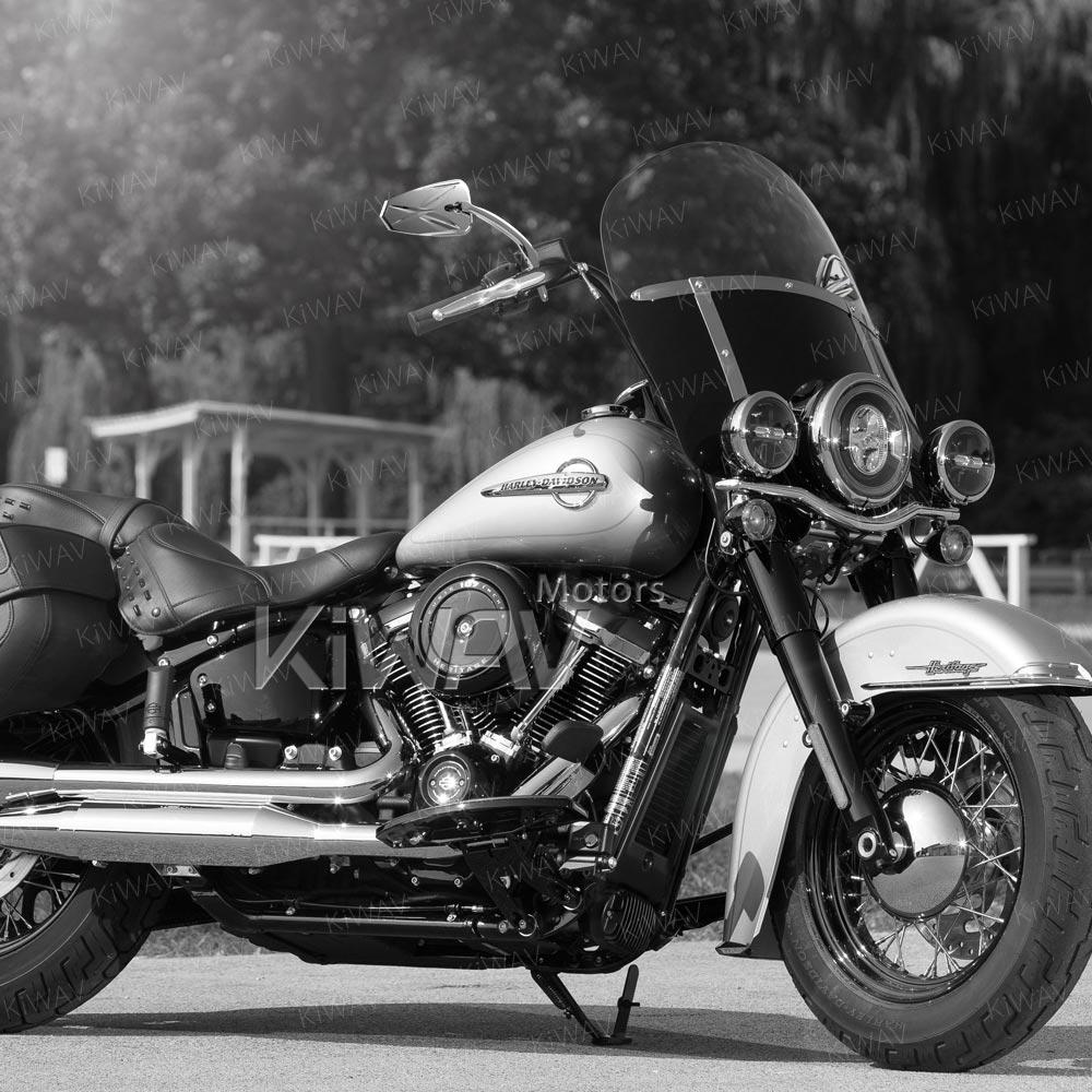 Blinker chrome LED mirrors for Harley-Davidson on