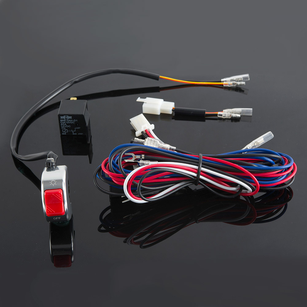 Lights & indicators : WK-003 wiring kit with chrome aluminum fog ...