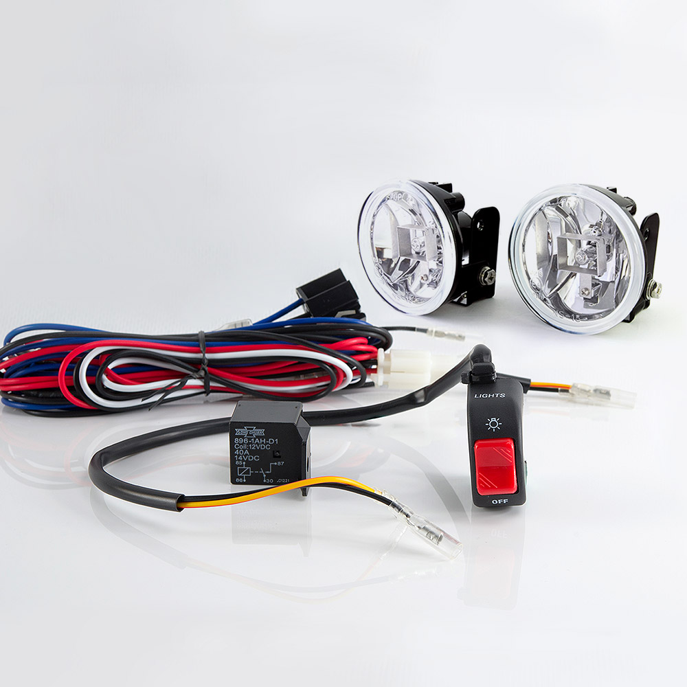 Lights Indicators Sirius Ns 15 Fog Light Lamp With Wiring Led Indicator Harness And Black Switch
