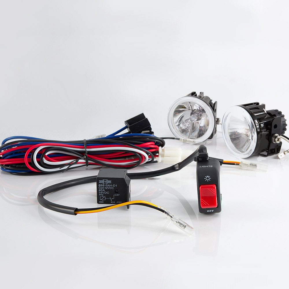 Sirius NS-39D Fog light lamp with wiring harness and black fog light switch