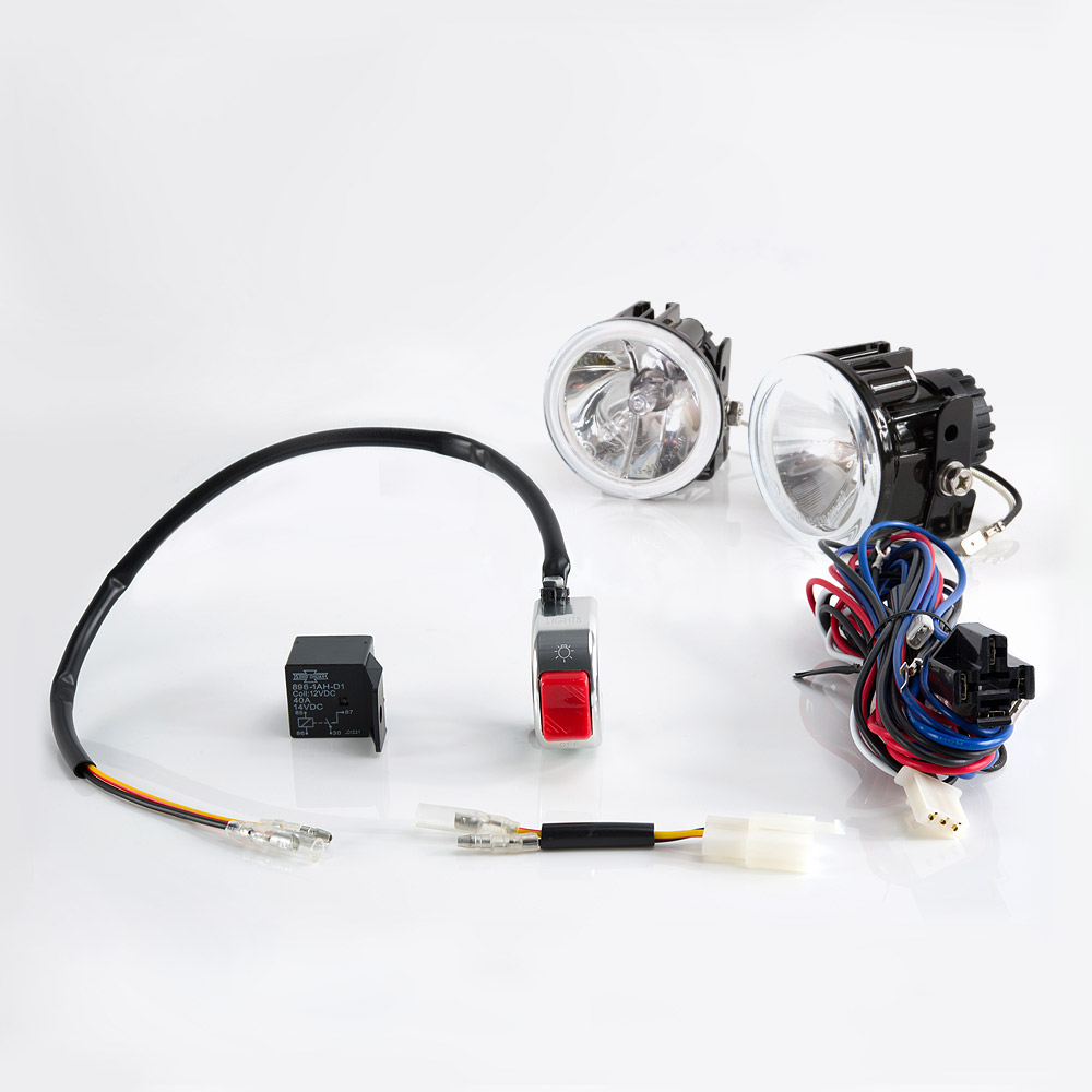 Lights Indicators Sirius Ns 39d Fog Light Lamp With Wiring Emission Harness And Chrome Switch