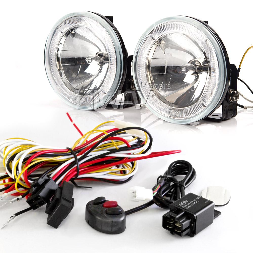 Lights Indicators Sirius Ns 34 Round Driving Led Ring Wiring Harness Set Wk010