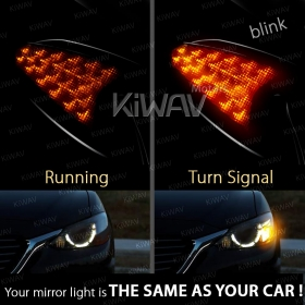 Mirrors with built-in LED Turn Signals - KiWAV motors