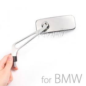 Magazi motorcycle mirrors aluminum classic chrome for BMW M10 x 1.5 adapters