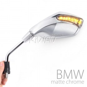 fist chrome LED turn signal rearview mirrors for BMW 10mm 1.5 pitch R1200GS, R1200GS ADV, R1200ST, R1200GSW, R1200GSW ADV, R nine T, K1200R, K1200R sport, K1300R, F650GS, F800R, HP2 Enduro,HP2 Megamoto, F700GS, F800GS