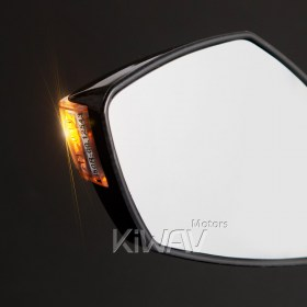 "Harley Davidson, Dyna, Softail, Touring, Sportster, Custom, vehicle, glide, switchback, breakout, cross bones, fat boy, deluxe Road King, Springer, Night Train, Heritage, rearview mirrors, 5/16"", Magazi Fist carbon LED turn signal mirrors universal f"
