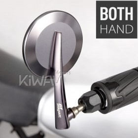 universal fit, blindsight, rearview, bar ends mirrors, yamaha, kawasaki, suzuki, honda, triumph, ducati, aprilia, buell, BMW,